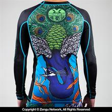 """Peacock"" Rash Guard by Meerkatsu"